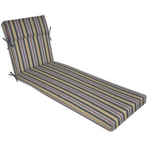 Hampton Bay Harbor Spring Stripe Pillow Top Outdoor Chaise Lounge Cushion FD03334A 9D1