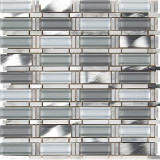 MS International Icelandic Blend Pattern 12 in. x 12 in. x 8 mm Glass Metal Stone Mesh Mounted Mosaic Tile SGLSMT IB8MM