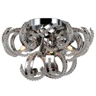 Worldwide Lighting Medusa Collection 9 Light Ceiling Chrome and Crystal Light W33112C12
