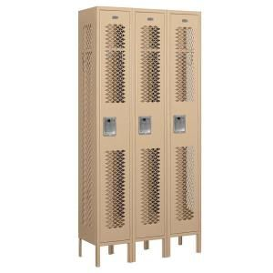 Salsbury Industries 71000 Series 36 in. W x 78 in. H x 12 in. D Single Tier Vented Metal Locker Unassembled in Tan 71362TN U