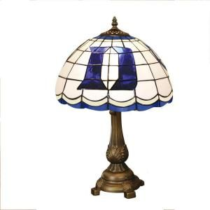 The Memory Company NCAA Duke Blue Devils Stained Glass Tiffany Table Lamp COL DUK 500