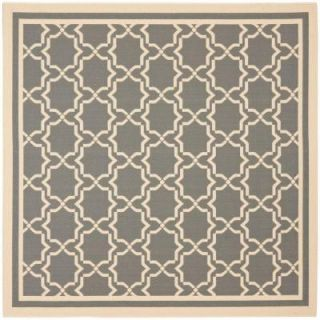 Safavieh Courtyard Anthracite/Beige 5.3 ft. x 5.3 ft. Square Area Rug CY6916 246 5SQ