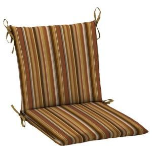 Hampton Bay Rustic Stripe Mid Back Outdoor Chair Cushion AC18552X 9D1