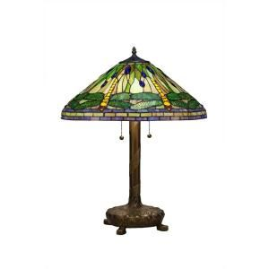 Serena Ditalia 25 in. Tiffany Green Dragonfly Bronze Table Lamp 2013/LB0804Z