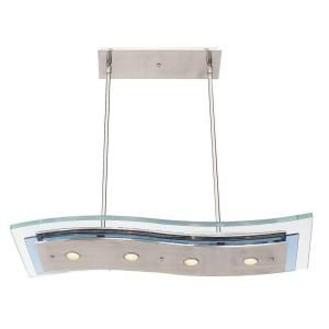 Illumine 4 Light Brushed Steel Semi Flush Mount with Clear Glass CLI CE 0107 7 30
