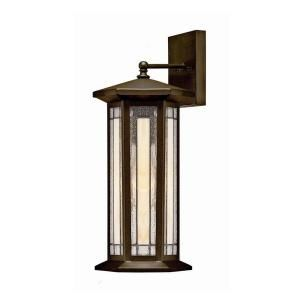 Hampton Bay Woodbridge Collection 1 Light Heritage Bronze Faux Tiffany Long Wall Sconce 21105 029