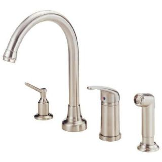 Danze Melrose Single Handle Kitchen Faucet in Stainless Steel D409012SS