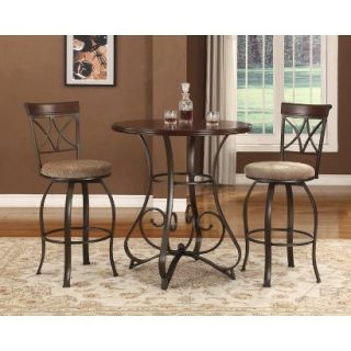 Pub Set Powell Hamilton Pub Table   Brown (Set of 3)