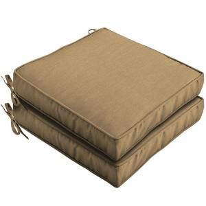 Hampton Bay Bellagio Solid Outdoor Seat Cushion (2 Pack) FD02412B 9D2