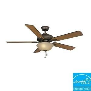 Hampton Bay Larson 52 in. Oil Rubbed Bronze Ceiling Fan AL420 ORB