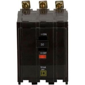 Square D by Schneider Electric QO 30 Amp Three Pole Bolt On Circuit Breaker DISCONTINUED QOB330