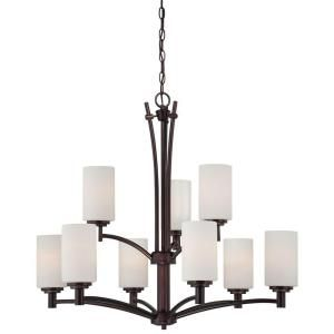 Thomas Lighting Pittman 9 Light Sienna Bronze Hanging Chandelier 190042719