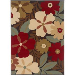 Tayse Rugs Laguna Multi 7 ft. 6 in. x 9 ft. 10 in. Contemporary Area Rug 4520  Multi  8x10