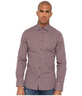 DSQUARED2 Dean Dan Cotton Check Cotton Button Up Mens Long Sleeve Button Up (Blue)