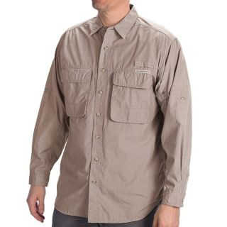 ExOfficio BugsAway(R) Baja Shirt   UPF 30+  Long Sleeve (For Men)   COBALT (XL )