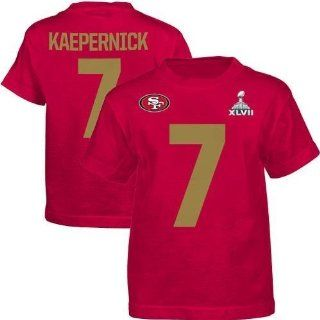 Colin Kaepernick San Francisco 49ers Toddler Red Name and Number T shirt 4T  Sports Fan T Shirts  Sports & Outdoors