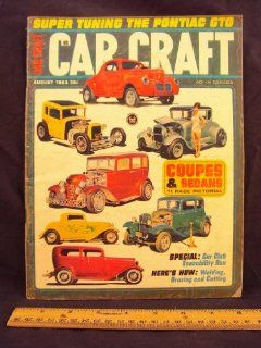 "1964 64 August CAR CRAFT Magazine, Volume 12 Number # 4 (Features Econability Run, 1rst ICCA Dodge Econablitlity Run / Fiery Fifty, Ron Whittle's Chpped and Sectioned '50 Ford is a ""Winner"" / Super Tunning Pontiac GTO) Car Craft Books"