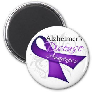 Alzheimer's Disease Awareness Ribbon Magnet