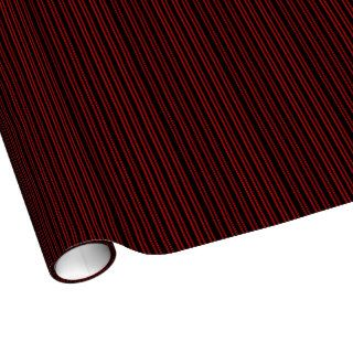 Black and Red Stripes Gift Wrapping Paper