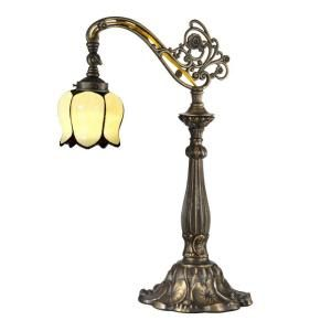 Dale Tiffany 22 in. Tulip Antique Bronze/Sand Table Lamp TT13063