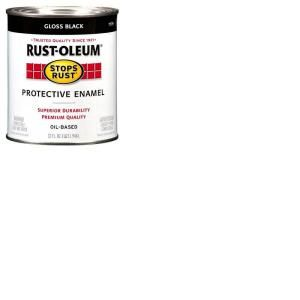 Rust Oleum Stops Rust 32 oz. Black Gloss Protective Enamel Paint 7779504