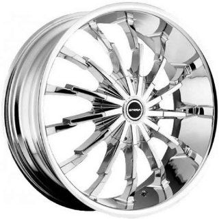 Strada Stiletto 22 Chrome Wheel / Rim 5x4.5 & 5x5 with a 40mm Offset and a 74.1 Hub Bore. Partnumber S26250340 Automotive