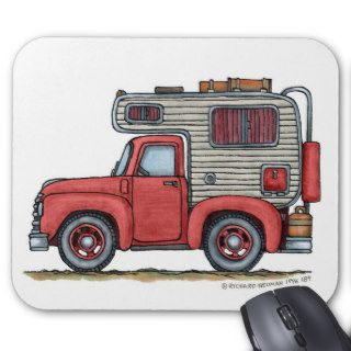 Pickup Truck Camper RV Mouse Pad
