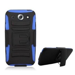 [K@K] PREMIUM BLACK/BLUE HEAVY DUTY COMBAT ARMOR KICKSTAND CASE W/ BELT HOLSTER FOR LG OPTIMUS G PRO E980 (AT&T) Cell Phones & Accessories