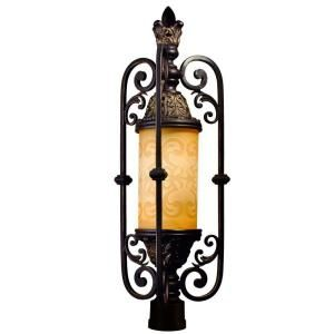 Eurofase Glenhaven Collection Outdoor Antique Iron Post Light 17519 014