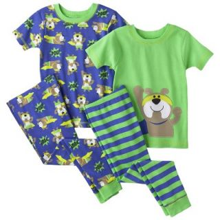 Just One You by Carters Infant Toddler Boys 4 Piece Short Sleeve Dog Pajama