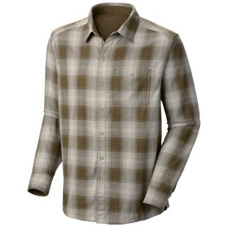 Mountain Hardwear Reeverse Grid Shirt   Long Sleeve (For Men)   BASIL (L )
