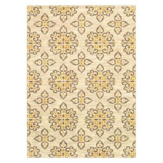 Shaw Living Global Tiles Area Rug   Gray/Yellow (5x7)