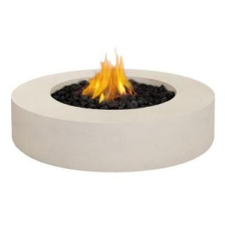 Real Flame Mezzo 42 in. Round Antique White Propane Gas Fire Pit 9660LP AW