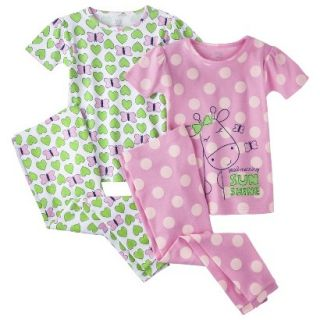 Just One You by Carters Infant Toddler Girls 4 Piece Short Sleeve Giraffe