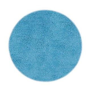 Home Decorators Collection Ultimate Shag Light Blue 8 ft. Round Area Rug 7575493560