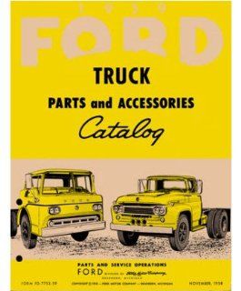 1959 Ford Truck Part Numbers Book List Catalog Interchange Drawings Automotive