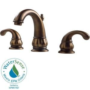 Pfister Treviso 8 in. Widespread 2 Handle High Arc Bathroom Faucet in Velvet Aged Bronze DISCONTINUED F 049 DV00