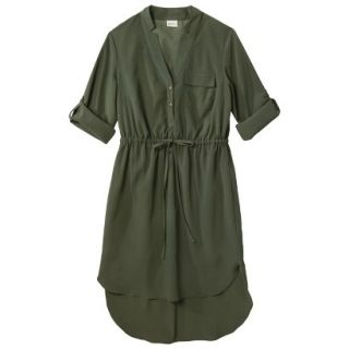 Merona Womens Drawstring Shirt Dress   Moss   L