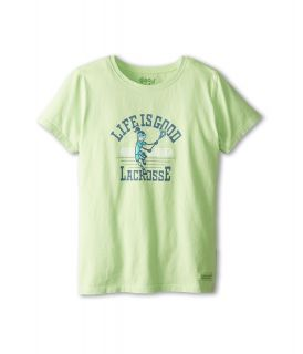 Life is good Kids Jackie Let It Fly Crusher Tee Girls Short Sleeve Pullover (Green)