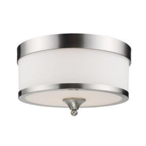 Filament Design 3 Light Brushed Nickel Flush Mount CLI JB308F BN