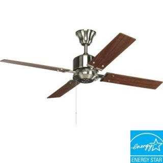 Progress Lighting North Park 52 in. Brushed Nickel Ceiling Fan P2531 09