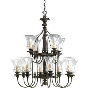 Progress Lighting Fiorentino Collection 12 Light Forged Bronze Chandelier P4411 77