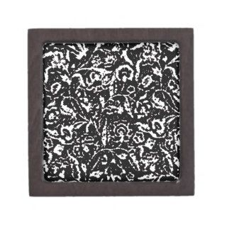 Art Deco black and white pattern Premium Gift Box