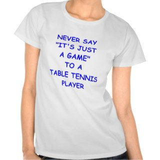 table tennis tee shirts