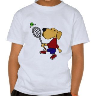 XX  Yellow Labrador Retriever Dog Playing Tennis T Shirts