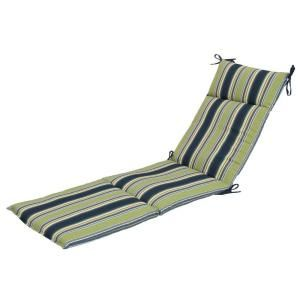 Hampton Bay Burkester Stripe Outdoor Chaise Lounge Cushion 7407 01002100