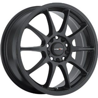 Vision Venom 15 Black Wheel / Rim 5x100 & 5x4.5 with a 38mm Offset and a 73.1 Hub Bore. Partnumber 425 5618MB38 Automotive