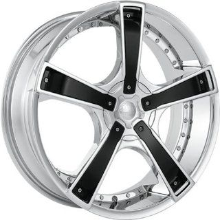 Starr Bones 18 Chrome Wheel / Rim 5x100 & 5x115 with a 35mm Offset and a 73.1 Hub Bore. Partnumber SWG6638790C+35 Automotive