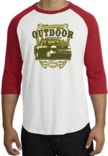 Ford Truck F 150 OUTDOOR ADVENTURES Classic Adult Raglan T shirt Tee   White/Red Clothing