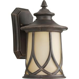 Progress Lighting Resort Collection 1 Light Outdoor Aged Copper Wall Lantern P5913 122DI